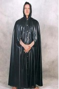 Cape with Hood and Arm Slits